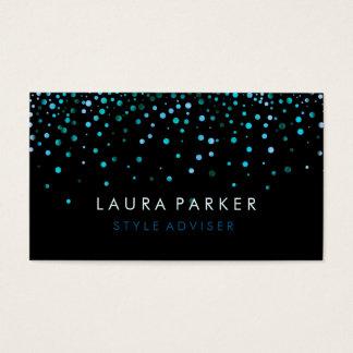 Elegantes Glitter-subtiles Seeblauer Visitenkarten