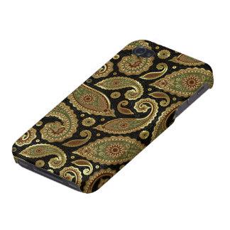 Elegantes Gold Brown u. grünes Vintages Pastellpai iPhone 4 Case