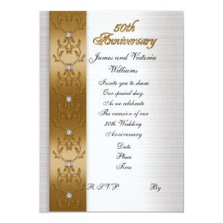elegantes Gold der 50. Jahrestags-Party Einladung