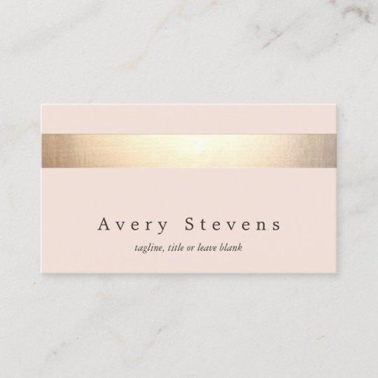 Elegantes Gold Striped Kein Glanz Modernes Visitenkarte
