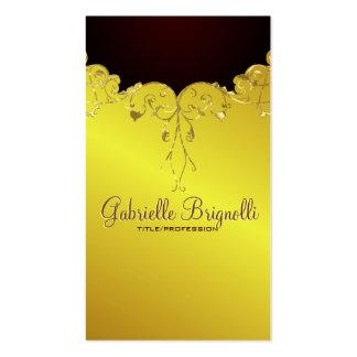 Elegantes Gold tont Vintagen Spitze-Rahmen Visitenkarten