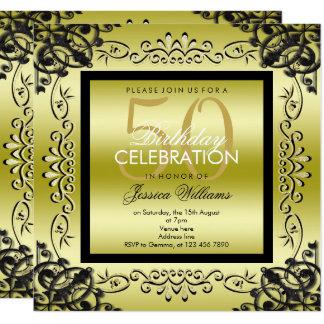 Elegantes Gold u. der 50. Geburtstag der schwarzen Karte