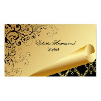 Elegantes Gold u. schwarze Visitenkarte