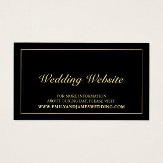 Elegantes Gold und schwarze Hochzeits-Website Visitenkarte