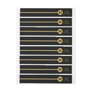 Elegantes Gold und schwarzer Entwurf