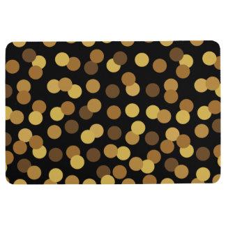 Elegantes Gold und schwarzes Tupfen-Muster Bodenmatte