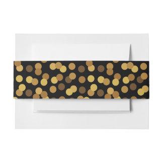 Elegantes Gold und schwarzes Tupfen-Muster Einladungsbanderole