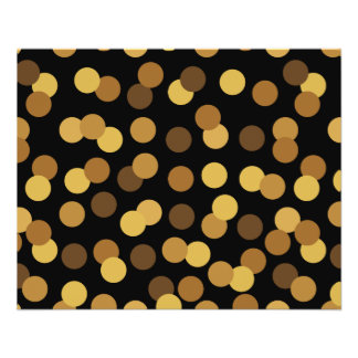 Elegantes Gold und schwarzes Tupfen-Muster Flyer