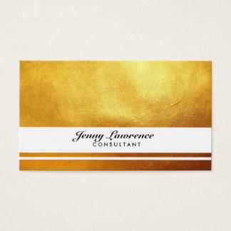 Elegantes Gold Visitenkarte