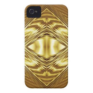 Elegantes Golddiamantmuster iPhone 4 Cover