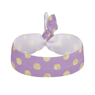 Elegantes Goldfolien-Polka-Punkt-Muster - lila Haarband