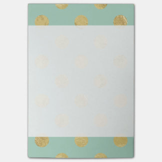 Elegantes Goldfolien-Polka-Punkt-Muster - Post-it Klebezettel