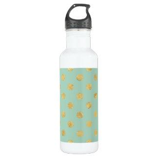 Elegantes Goldfolien-Polka-Punkt-Muster - Trinkflasche