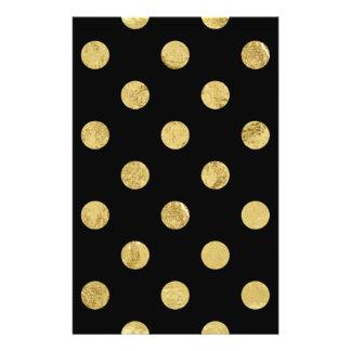 Elegantes Goldfolien-Tupfen-Muster - Gold u. Flyer