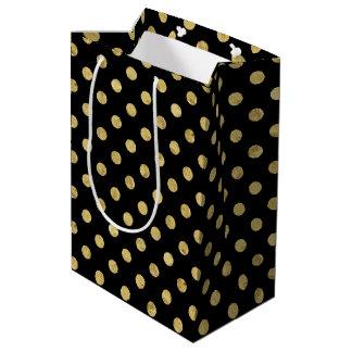 Elegantes Goldfolien-Tupfen-Muster - Gold u. Medium Geschenktüte