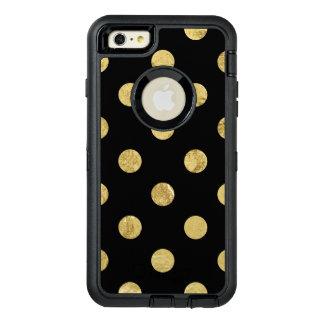 Elegantes Goldfolien-Tupfen-Muster - Gold u. OtterBox iPhone 6/6s Plus Hülle