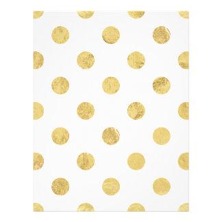 Elegantes Goldfolien-Tupfen-Muster - Gold u. Weiß Flyer
