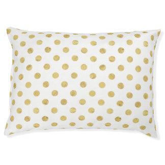 Elegantes Goldfolien-Tupfen-Muster - Gold u. Weiß Haustierbett
