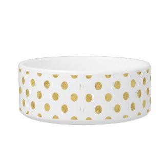 Elegantes Goldfolien-Tupfen-Muster - Gold u. Weiß Napf