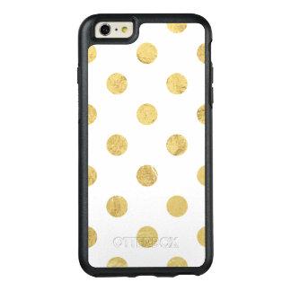 Elegantes Goldfolien-Tupfen-Muster - Gold u. Weiß OtterBox iPhone 6/6s Plus Hülle