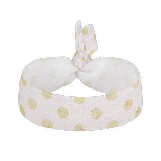 Elegantes Goldfolien-Tupfen-Muster - Rosa u. Gold Haarschleife