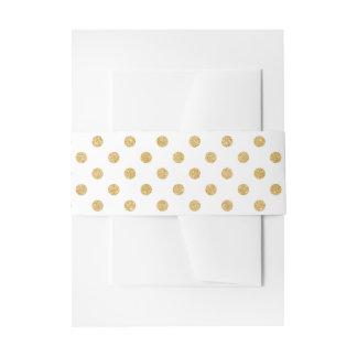 Elegantes GoldGlitter-Polka-Punkt-Muster Einladungsbanderole