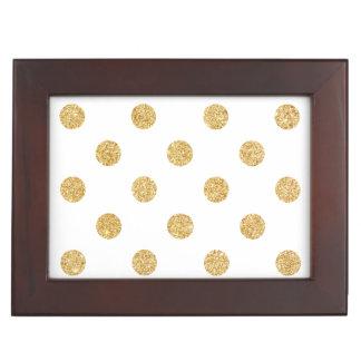 Elegantes GoldGlitter-Polka-Punkt-Muster Erinnerungsdose