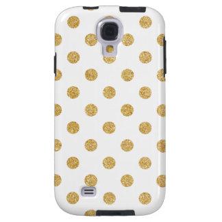 Elegantes GoldGlitter-Polka-Punkt-Muster Galaxy S4 Hülle