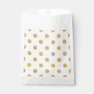 Elegantes GoldGlitter-Polka-Punkt-Muster Geschenktütchen