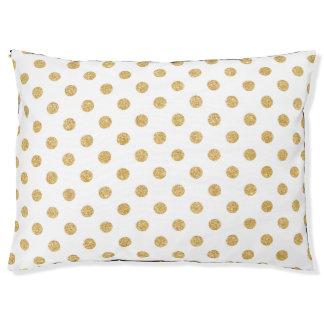 Elegantes GoldGlitter-Polka-Punkt-Muster Haustierbett