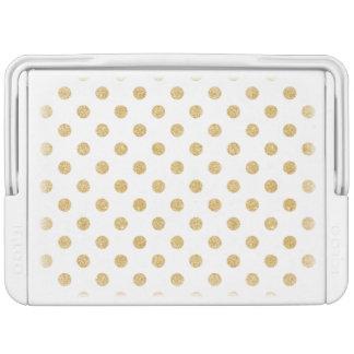 Elegantes GoldGlitter-Polka-Punkt-Muster Kühlbox