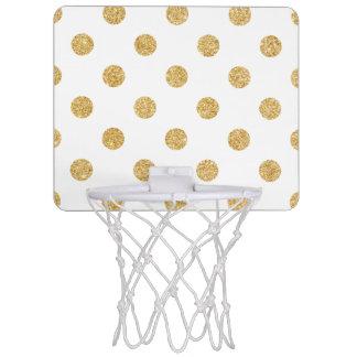 Elegantes GoldGlitter-Polka-Punkt-Muster Mini Basketball Netz