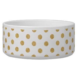 Elegantes GoldGlitter-Polka-Punkt-Muster Napf