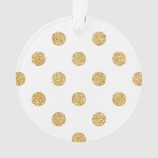 Elegantes GoldGlitter-Polka-Punkt-Muster Ornament