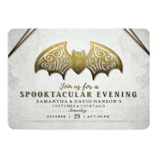 Elegantes Goldladen weißer Schläger Spooktacular 12,7 X 17,8 Cm Einladungskarte