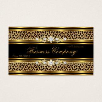 Elegantes Goldleopard-Schwarz-VERZIERTES Bestes Visitenkarte