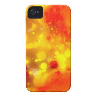 Elegantes GoldLuxe rotes und gelbes Aquarell iPhone 4 Case-Mate Hülle