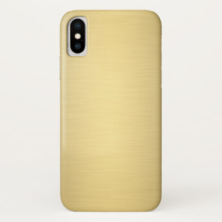 Elegantes Goldmetallischer Luxus iPhone X Hülle