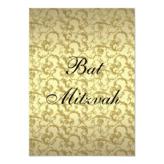 Elegantes Goldmit filigran geschmückte Schläger 12,7 X 17,8 Cm Einladungskarte