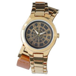 Elegantes Goldrömische Ziffern Armbanduhr