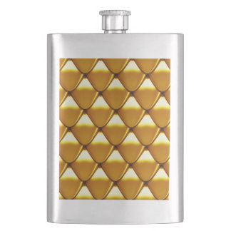 Elegantes Goldskala-Muster Flachmann