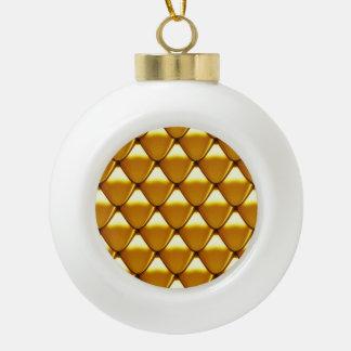 Elegantes Goldskala-Muster Keramik Kugel-Ornament