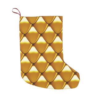 Elegantes Goldskala-Muster Kleiner Weihnachtsstrumpf