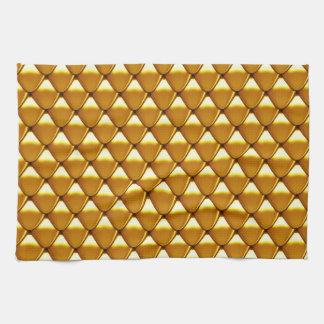 Elegantes Goldskala-Muster Küchentuch