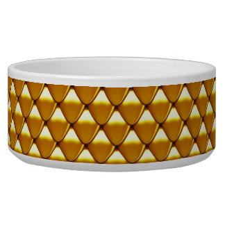 Elegantes Goldskala-Muster Napf