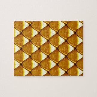 Elegantes Goldskala-Muster Puzzle