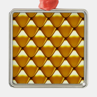 Elegantes Goldskala-Muster Silbernes Ornament