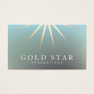 Elegantes Goldstern-Logo beruflich Visitenkarte