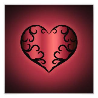 Elegantes gotisches pinkish rötliches Valentinsgru