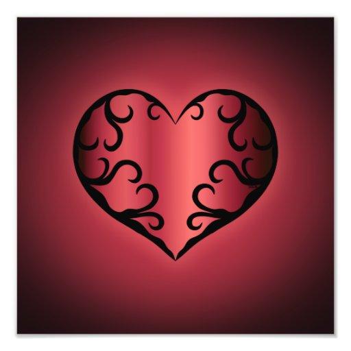Elegantes gotisches pinkish rötliches Valentinsgru Fotografie